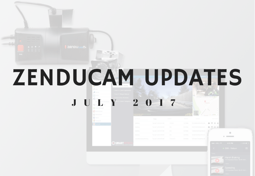 ZenduCAM Updates July 2017: Audit Log, Notifications, Reports + More!