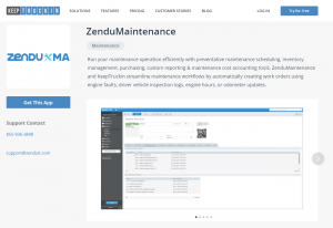zendumaintenance, keeptruckin, marketplace, app